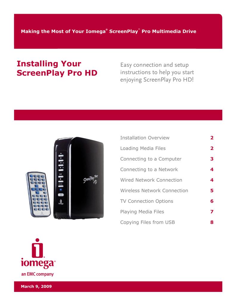iomega screenplay director user manual