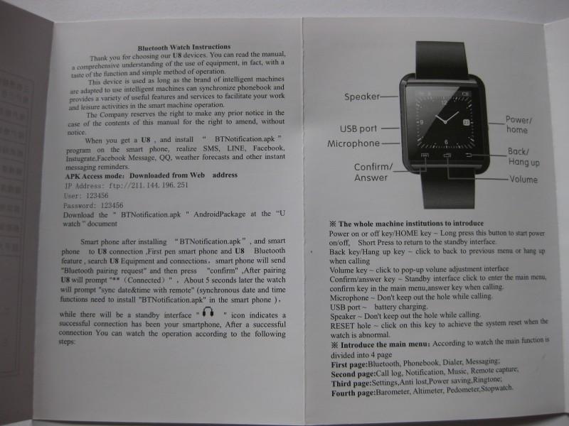 bingo u8 smartwatch user manual