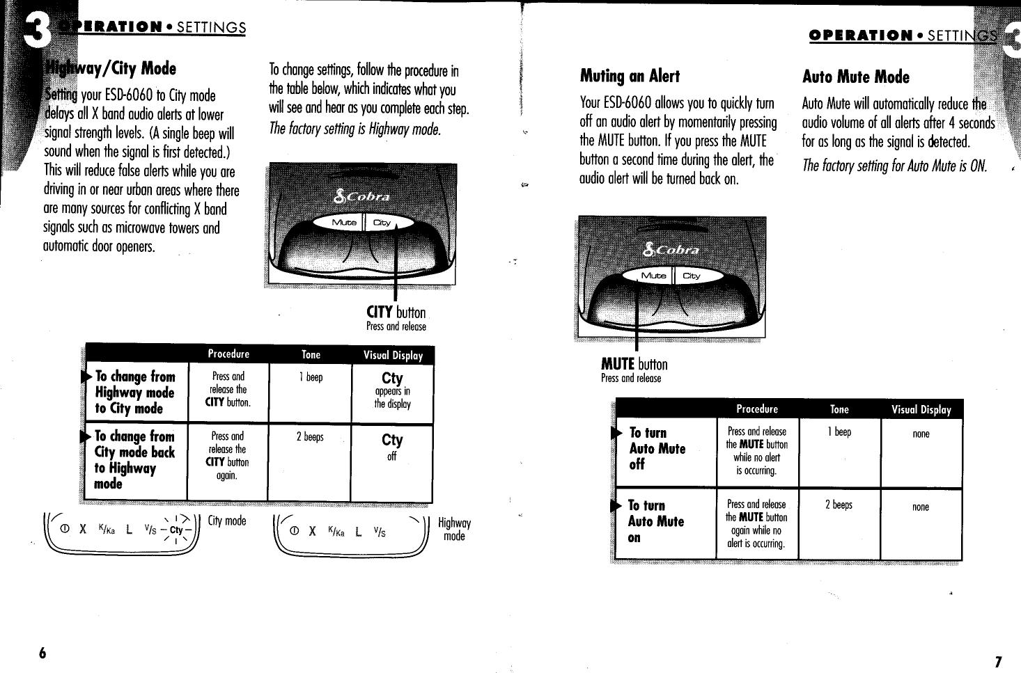 cobra 360 laser 6 band user manual