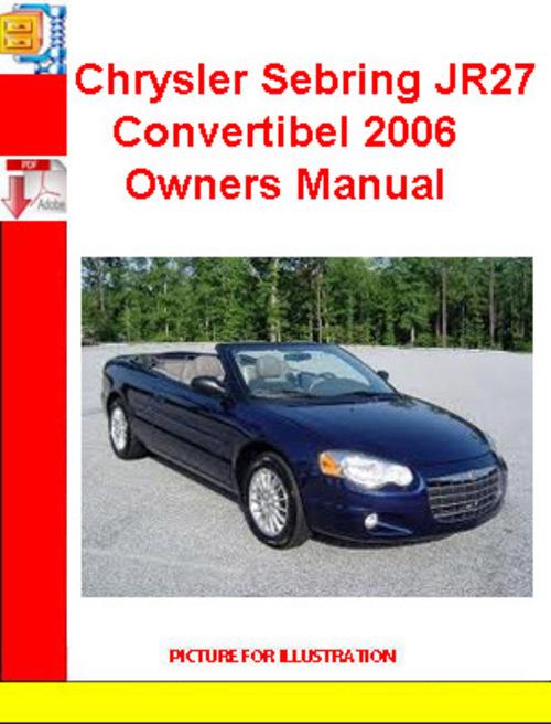 2006 chrysler sebring owners manual