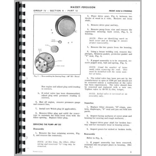 massey ferguson 165 service manual