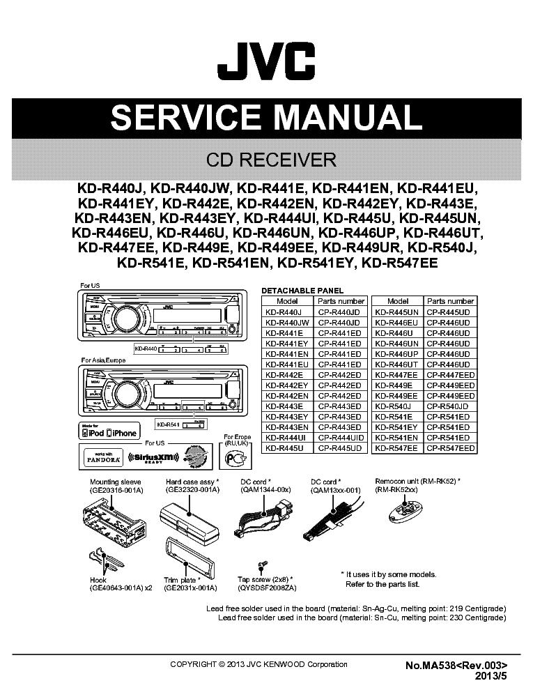 jvc kd r446 user manual