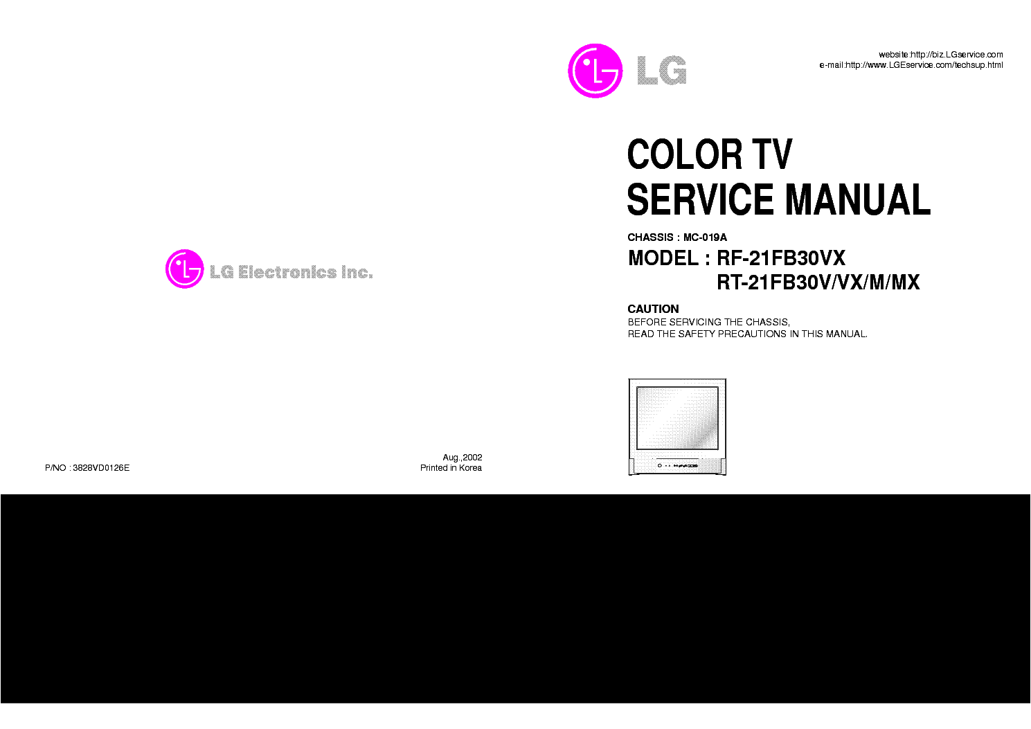 lg tv service manual pdf