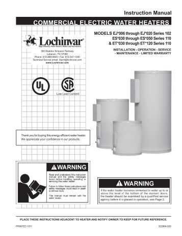 lochinvar power fin service manual