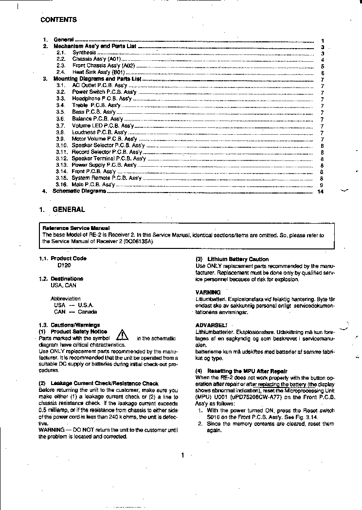 nakamichi re 2 service manual