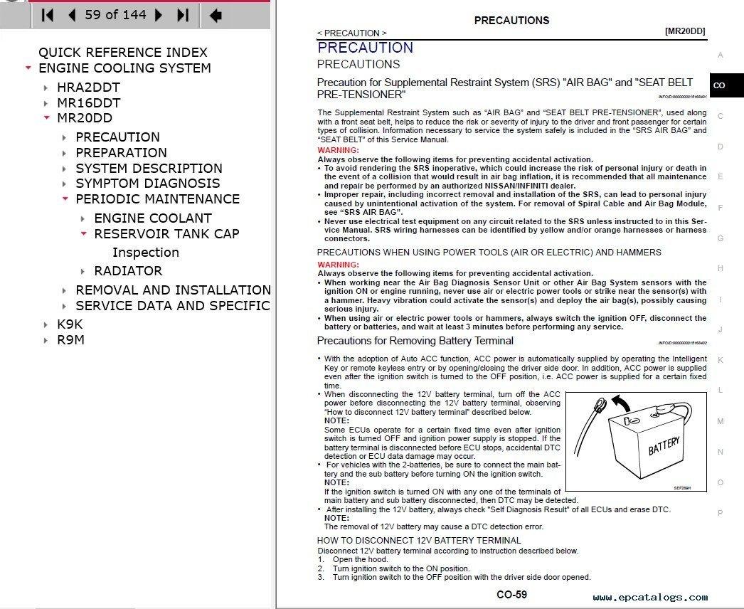 nissan qashqai j11 service manual