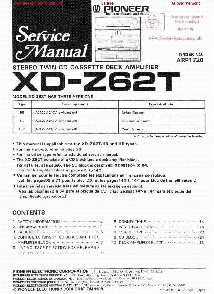 pioneer sa 608 service manual