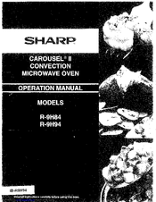 sharp carousel convection microwave user manual