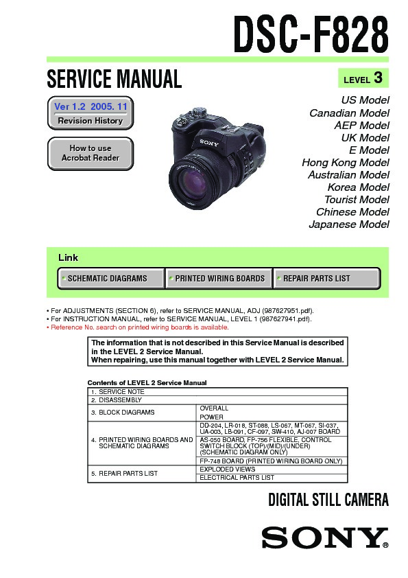 sony dsc f828 owners manual
