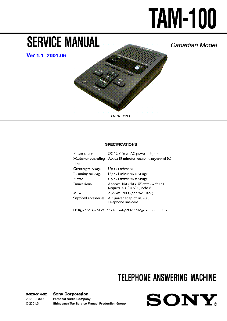 sony str 11l service manual