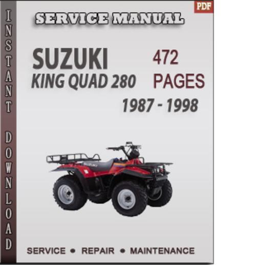suzuki king quad 400 owners manual